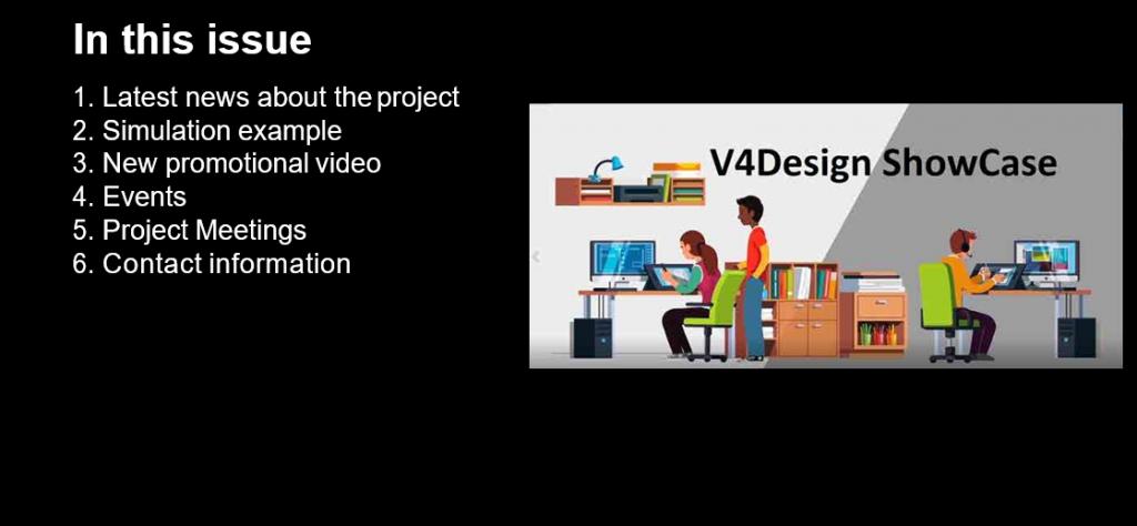 2nd V4Design Newsletter (June 2018)